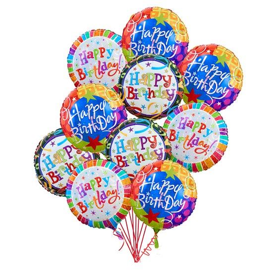Happy-Birthday-10-Balloons-Bouquet